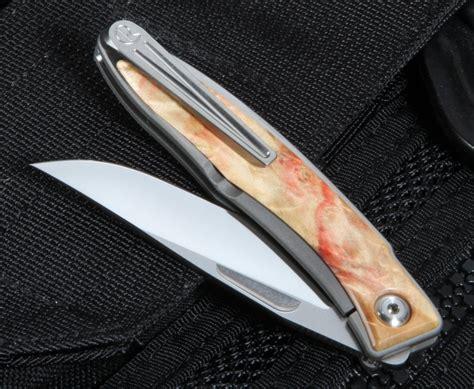 chris reeve mnandi chris reeve mnandi box elder burl folding knife
