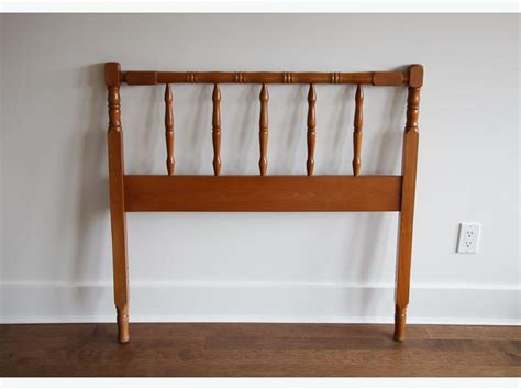 wood spindle bed pair of solid wood twin size spindle beds oak bay victoria