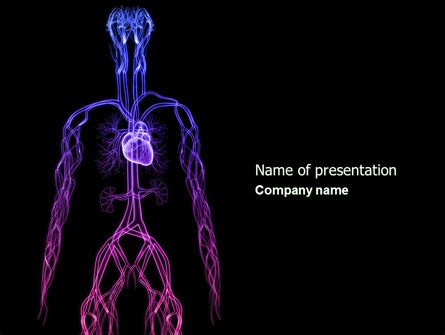 Cardiovascular System Powerpoint Template Backgrounds 04281 Poweredtemplate Com Cardiac Powerpoint Template