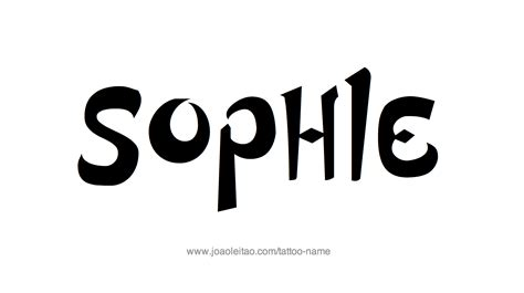 sophie tattoo designs name designs