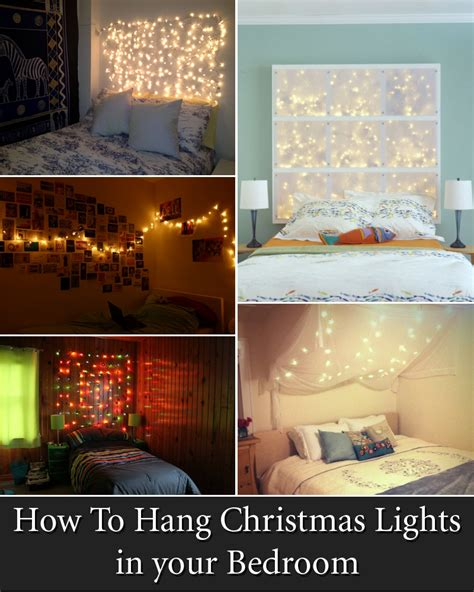 12 Cool Ways To Put Up Christmas Lights In Your Bedroom How To Hang Lights In Bedroom