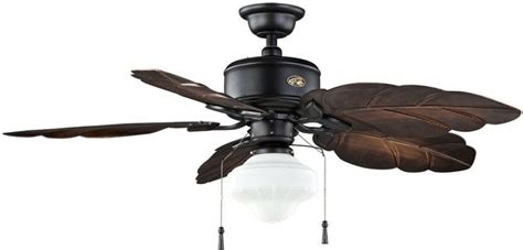 leaf shaped ceiling fan light palm rustic tropical indoor