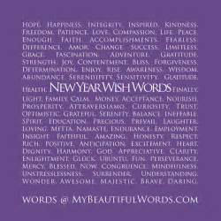 my beautiful words new year wish words