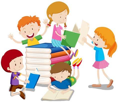 libro adults in the room ni 241 os y ni 241 as leyendo libros ilustraci 243 n descargar vectores gratis