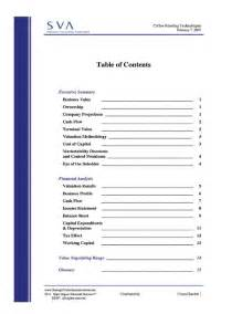 best photos of table of contents page exle exles