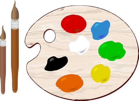 Free Artist Brush Paint Palette Clip Art Paint Palette Coloring Page