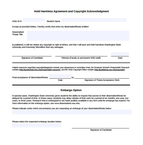 hold harmless agreement template 30 sle hold harmless agreement templates to