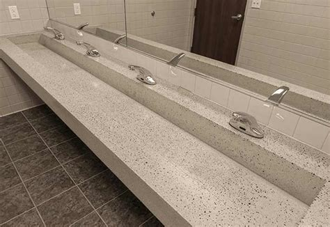 trough style bathroom sink commercial trough bathroom sinks custom and standard by