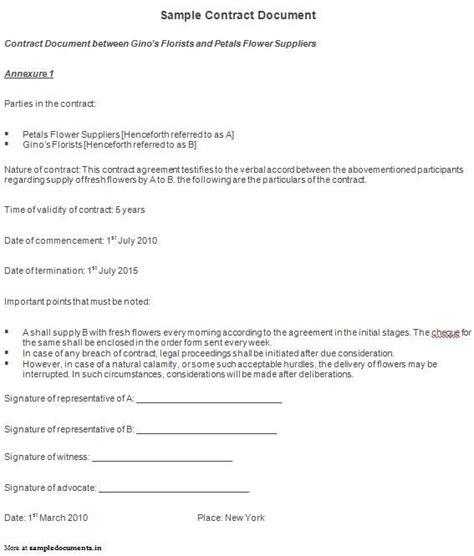Contract Documents sle contract document contract documents