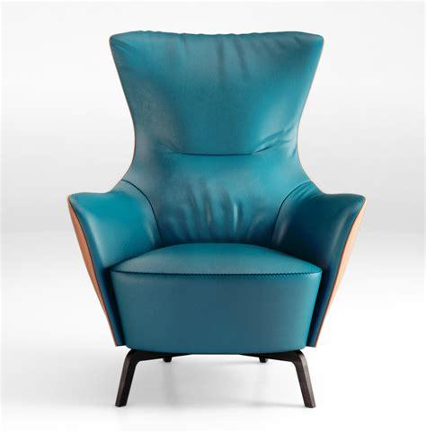 Armchair Scientist by Poltrona Frau Italy Mamy Blue Armchair 3d Model Max Obj