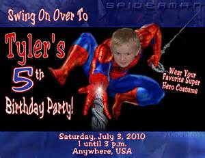 spiderman personalized photo birthday invitations 1 39