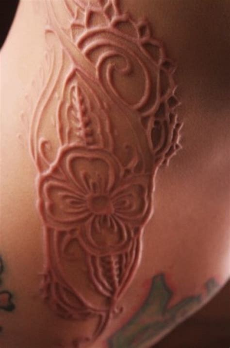 tattoos on brown skin 17 white ink scarification tattoos