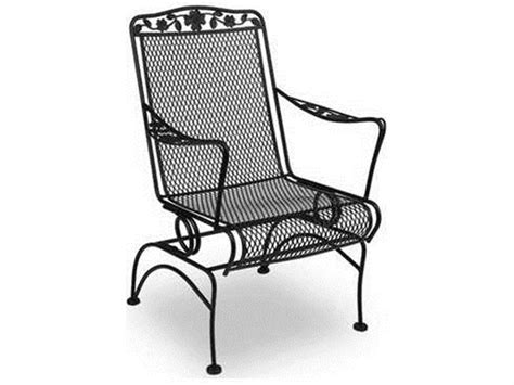 Wrought Iron Patio Rockers - meadowcraft dogwood wrought iron coil dining chair