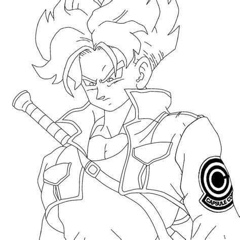 dragon ball z trunks coloring pages dbz trunks ssj free coloring pages