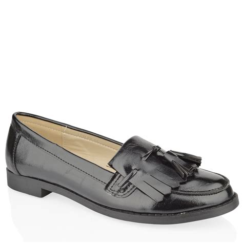 flat shoes for office womens flat casual office patent faux leather