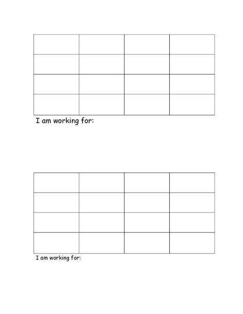 blank reward chart template best photos of blank reward charts blank printable