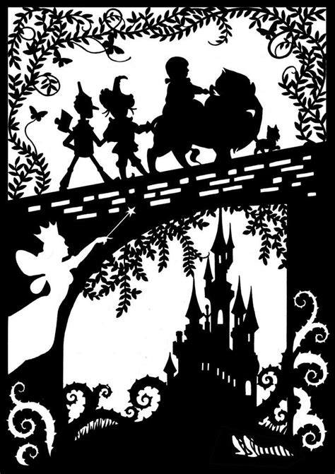 Wizard Of Oz Silhouettes The Wonderful Wizard Of Oz Paper Cut The Supermums Silhouette Silhouette Templates For Paper Cutting