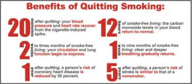 What Happens When You Stop Smoking Cold Turkey by Gallery For Gt Benefits Of Quitting Smoking Timeline Chart