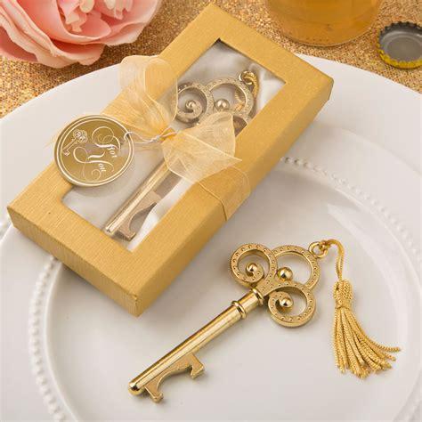 Bottle Opener Giveaways - gold vintage skeleton key bottle openers