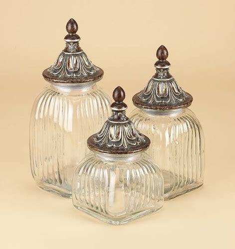 clear glass kitchen canister sets buy clear glass canister jar set of 3 with lids fancy
