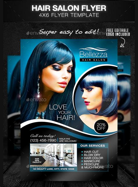 27 Hair Salon Flyer Templates Printable Psd Ai Vector Eps Format Download Design Trends Hair Salon Flyer Templates Free