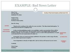 Business Writing Bad News Letter Example professional communication 3 examples