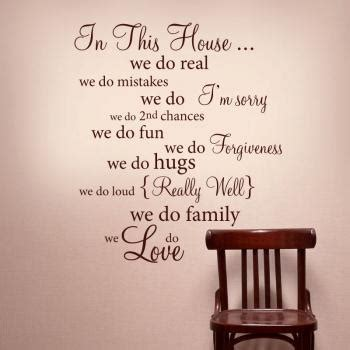 house rules art words graphics pvc wall sticker wallpaper in this house wall words vinyl decal rules quote wall