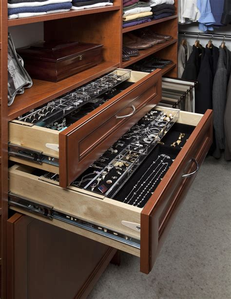 Custom Jewelry Trays For Drawers by Closet Organizers Organizers Direct Custom Closets