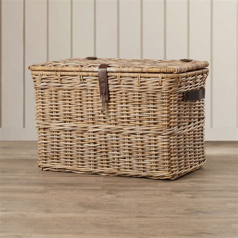 Wicker Storage Trunk Coffee Table Furniture Rustic Wicker Trunk For Vintage Storage Ideas Hanincoc Org