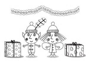 Ben Aben And Holly Colouring Pages sketch template