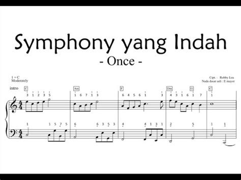 adera lebih indah piano sheet symphony yg indah slide piano sheet youtube