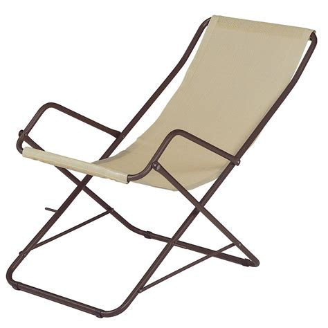 foldable reclining chair bahama reclining chair foldable beige bronze structure