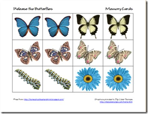 pattern matching card game homeschooling hearts minds free butterfly preschool