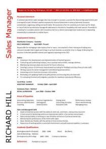 Sales Manager CV example, free CV template, sales