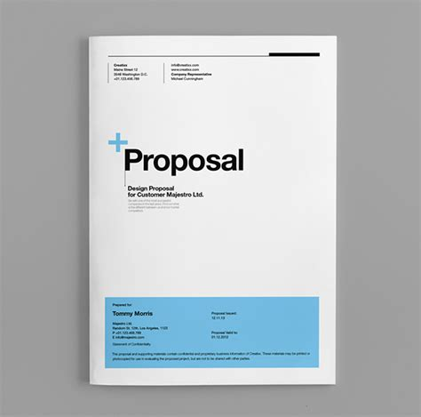 proposal layout template proposal template suisse design with invoice on behance