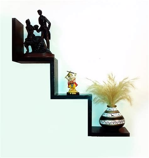 quot w quot shaped zigzag wall mounted shelf home decor diy book
