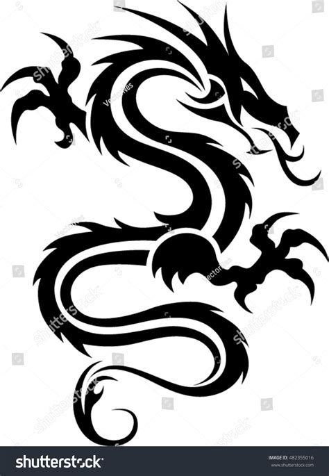 black and white tribal tattoos tribal black white stock vector