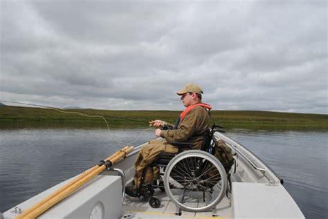 wheelchair fishing boat trout fishing badanloch estates