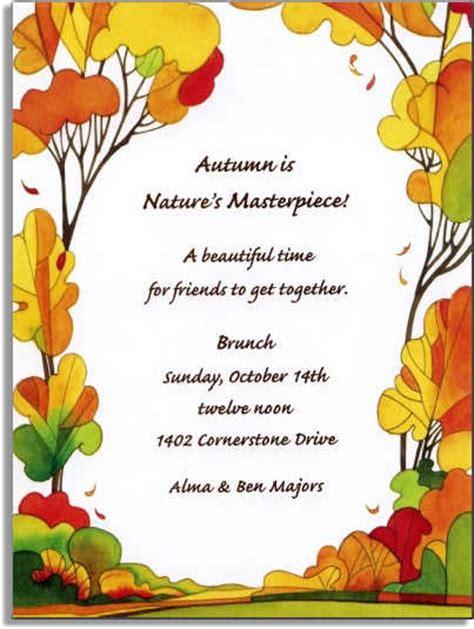 Autumn Invitations Autumn Invitations For Special Events Fall Invitation Templates Free