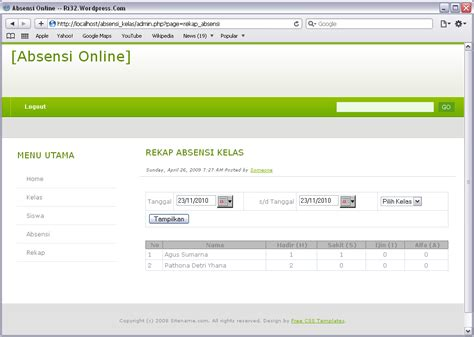 membuat aplikasi web dengan php membuat web absensi online dengan php dan mysql ri32 s