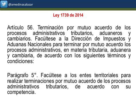 nueva reforma tributaria ley 1739 de 2014 actualizaci 211 n tributaria ley 1739 de 2014