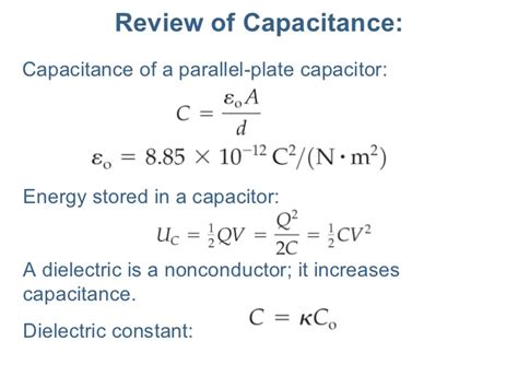energy of capacitor formula energy stored by capacitor equation 28 images ppt capacitance and laplace s equation