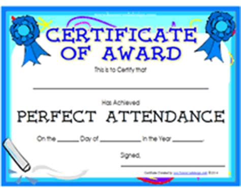 search results for perfect attendance printable