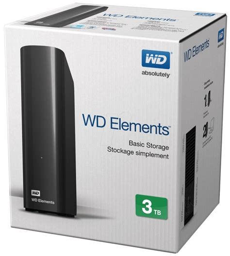 Hardisk Eksternal Wd 3tb wd elements desktop 3tb 3 5inch external hdd black ebuyer