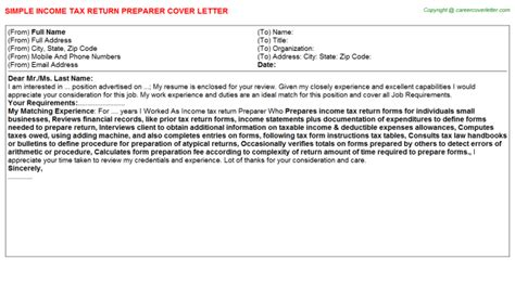 tax return cover letter how to write a cover letter for tax return cover letter
