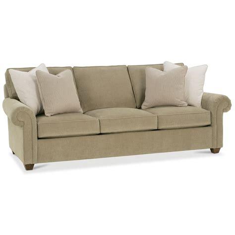 rowe traditional stationary sofa with nailhead trim