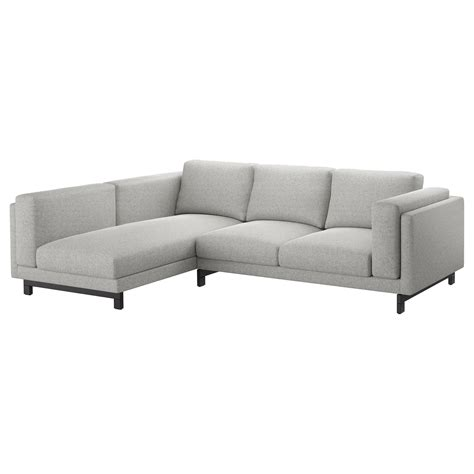 Sofa W Chaise by Nockeby Two Seat Sofa W Chaise Longue Left Tallmyra White