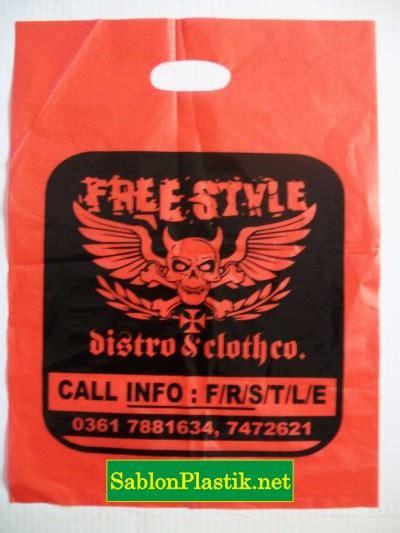 desain plastik distro sablon plastik bali pesanan free style distro sablon plastik