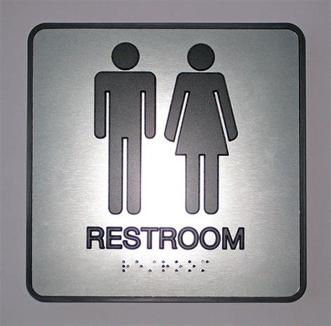 signs for bathroom ada compliant braille signs office sign company s blog