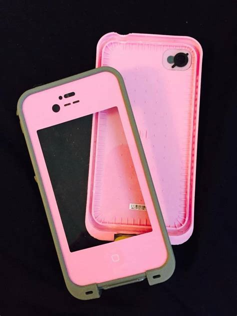 apple iphone  pink lifeproof case ebay